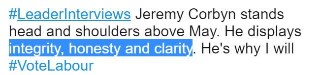 corbyn integrity